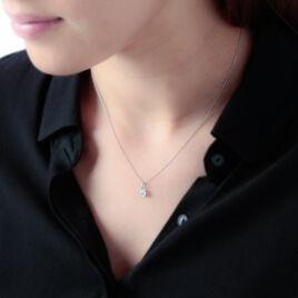 Pendentif Fauzia Or Blanc Diamant - Pendentifs Femme | Histoire d'Or