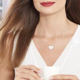 Collier Coeur Gravable Or Blanc - Colliers Coeur Femme | Histoire d'Or