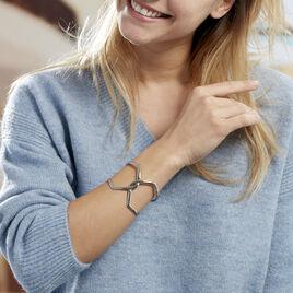 Bracelet Jonc Adelind Acier Blanc - Bracelets fantaisie Femme | Histoire d'Or