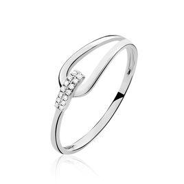 Bague Cyranna Or Blanc Diamant - Bagues avec pierre Femme   Histoire d'Or