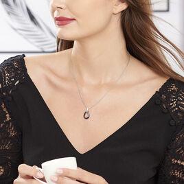 Collier Amaris Argent Blanc Céramique Et Oxyde De Zirconium - Colliers fantaisie Femme   Histoire d'Or