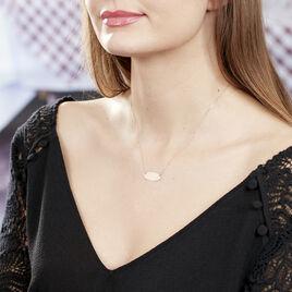 Collier Ovale Gravable Or Rose - Bijoux Femme | Histoire d'Or