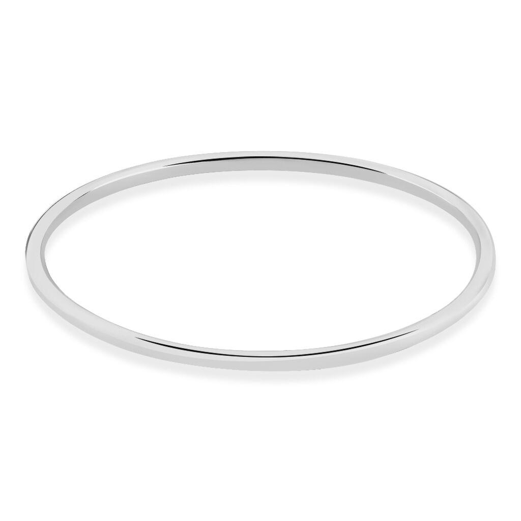 Bracelet Jonc Tabata Argent Blanc - Bracelets fantaisie Femme   Histoire d'Or