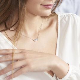 Collier Iolende Argent Blanc Oxyde De Zirconium - Colliers Plume Femme | Histoire d'Or