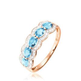 Bague Margaux Or Rose Topaze Et Diamant - Bagues avec pierre Femme | Histoire d'Or