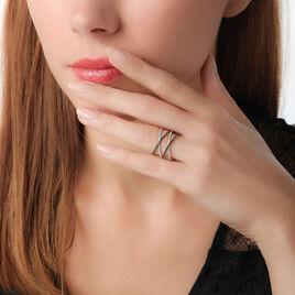 Bague Crescence Or Blanc Diamant - Bagues avec pierre Femme | Histoire d'Or