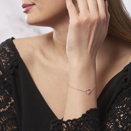 Bracelet Bertille Argent Blanc Oxyde De Zirconium - Bracelets Coeur Femme   Histoire d'Or