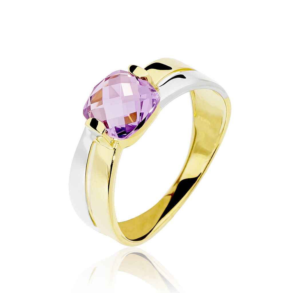 Bague Suzana Or Bicolore Amethyste