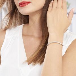 Bracelet Jonc Safietouae Argent Blanc - Bracelets fantaisie Femme | Histoire d'Or