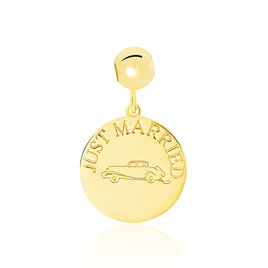 Charm Or Jaune Just Married - Charms Femme | Histoire d'Or