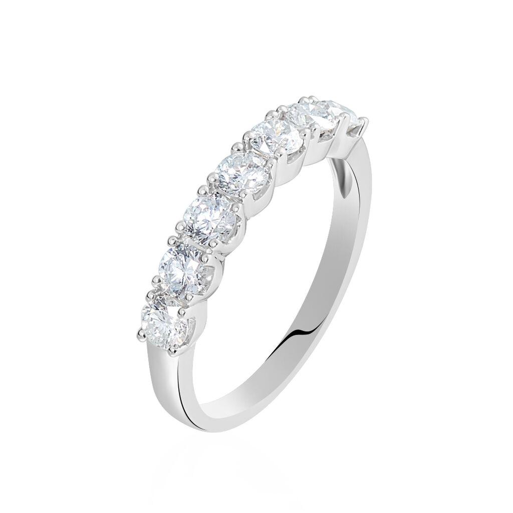 Alliance Eloisa Or Blanc Diamant Synthetique - Alliances Femme   Histoire d'Or