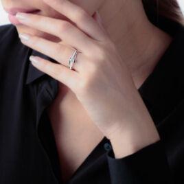Bague Asnia Or Blanc Oxyde De Zirconium - Bagues solitaires Femme | Histoire d'Or