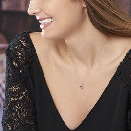Collier Angelika Or Blanc Rubis Et Diamant - Bijoux Femme | Histoire d'Or
