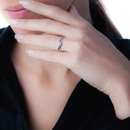 Bague Anita Or Blanc Diamant - Bagues avec pierre Femme   Histoire d'Or
