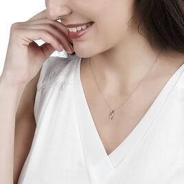 Collier Lilybeth Or Blanc Diamant - Bijoux Femme | Histoire d'Or