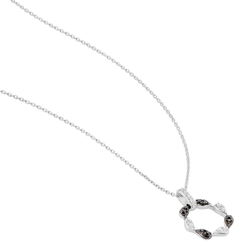Collier Or Blanc Enisa Et Diamant - Bijoux Femme | Histoire d'Or
