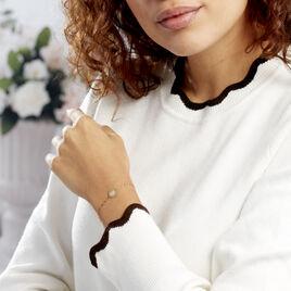Bracelet Or Jaune Ange Pastille Coeur - Bracelets Coeur Femme | Histoire d'Or