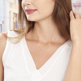 Collier Constancia Or Jaune Oxyde De Zirconium - Colliers Coeur Femme | Histoire d'Or