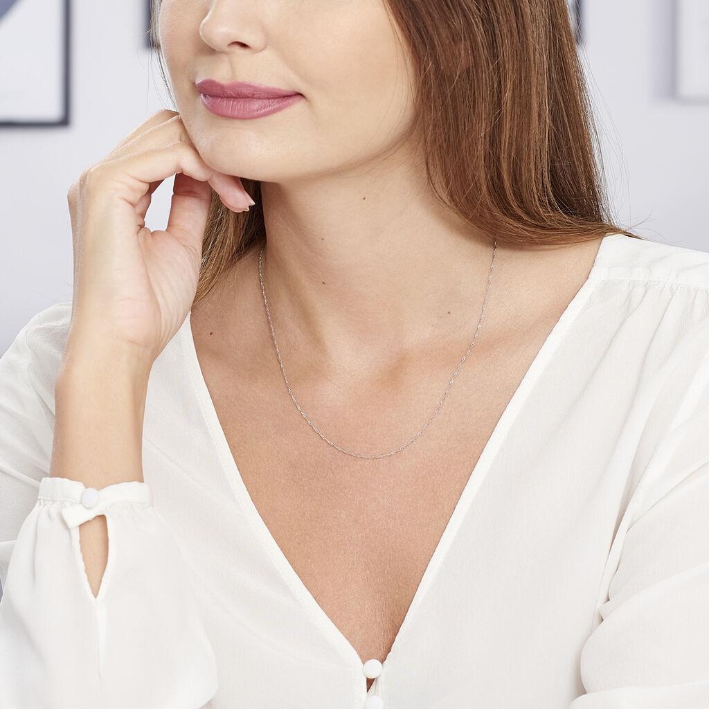 Chaîne Imanie Maille Singapour Or Blanc - Chaines Femme | Histoire d'Or