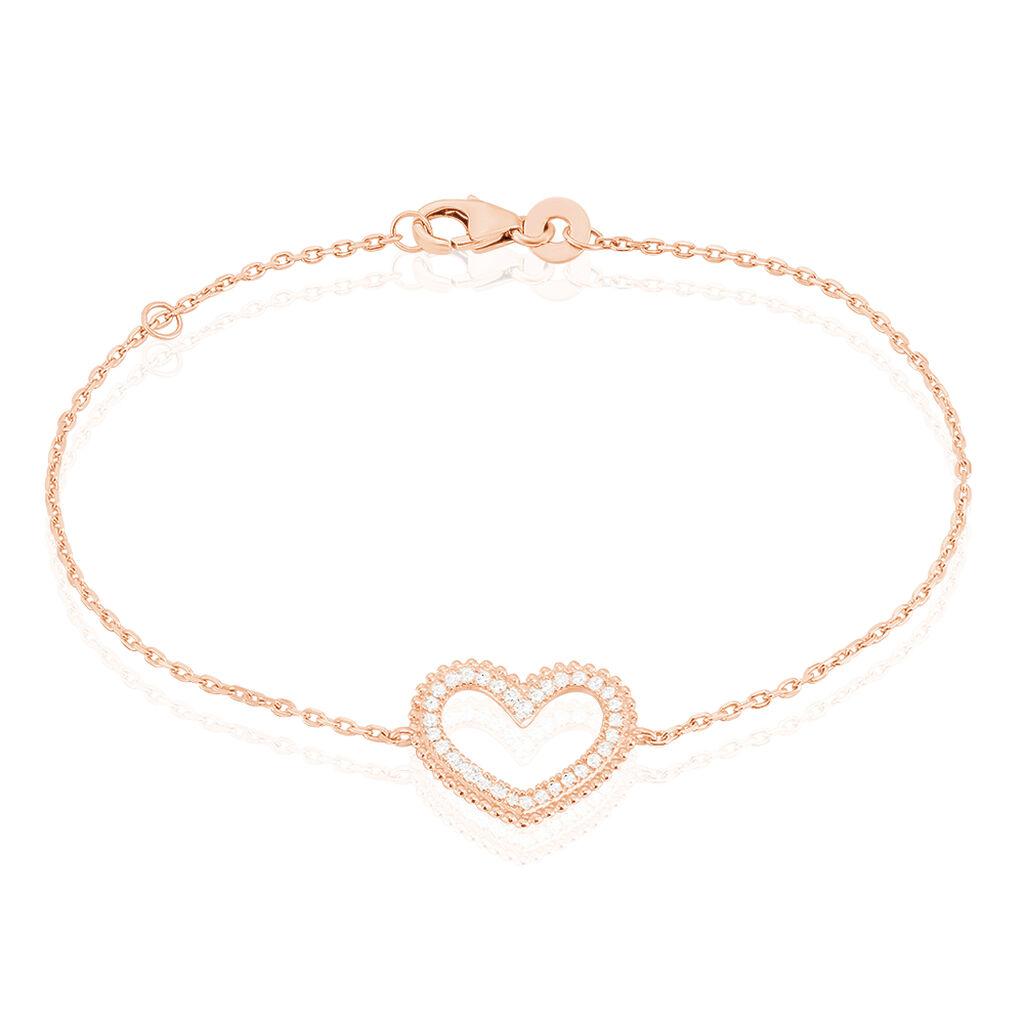 Bracelet Clolila Argent Rose Oxyde De Zirconium - Bracelets Coeur Femme | Histoire d'Or