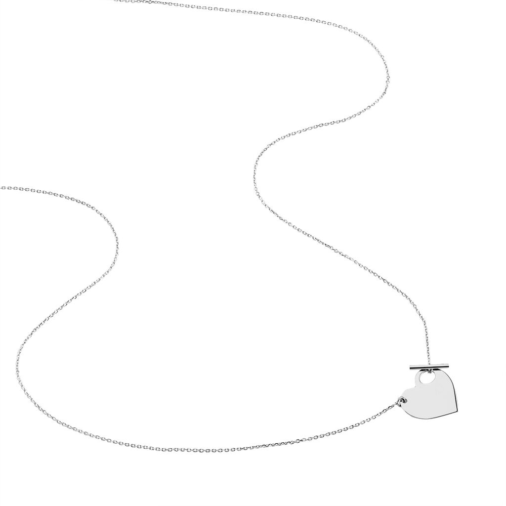 Collier Tyfen Or Blanc - Colliers Coeur Femme | Histoire d'Or