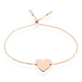 Bracelet Helenia Coeur Gravable Or Rose - Bracelets Coeur Enfant   Histoire d'Or