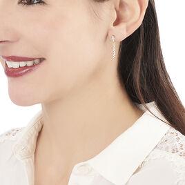Boucles D'oreilles Pendantes Koulma Or Jaune Oxyde De Zirconium - Boucles d'oreilles pendantes Femme | Histoire d'Or