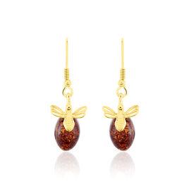 Boucles D'oreilles Argent Doreabeille Ambre - Boucles d'oreilles fantaisie Femme | Histoire d'Or
