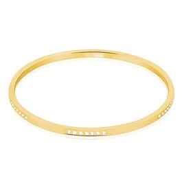 Bracelet Jonc Acier Jaune Strass - Bracelets fantaisie Femme | Histoire d'Or