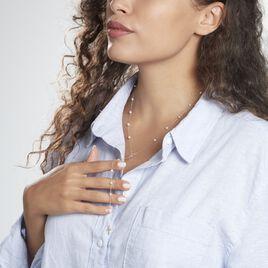 Collier Vesta Or Jaune Perle De Culture - Colliers Croix Femme   Histoire d'Or