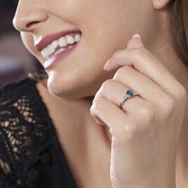 Bague Denise Or Blanc Saphir Et Diamant - Bagues solitaires Femme | Histoire d'Or