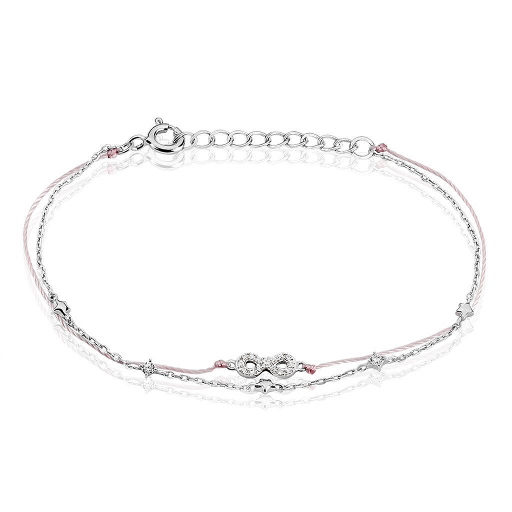 Bracelet Vera Argent Blanc Oxyde De Zirconium - Bracelets Coeur Femme   Histoire d'Or