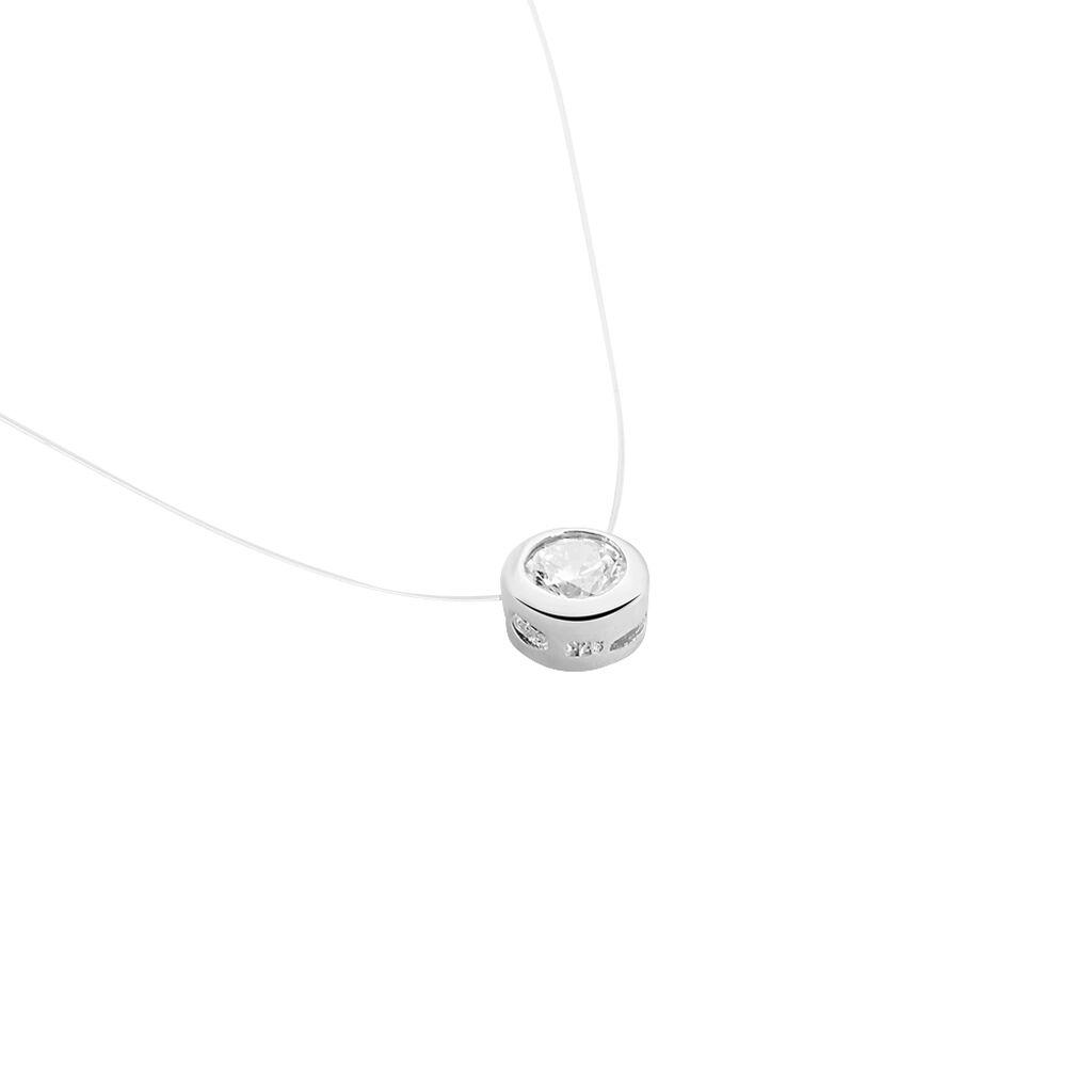 Collier Naisha Argent Blanc Oxyde De Zirconium - Colliers fantaisie Femme | Histoire d'Or