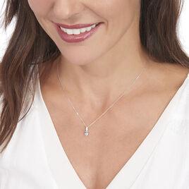 Collier Liyanna Or Blanc Topaze Et Oxyde De Zirconium - Bijoux Femme | Histoire d'Or