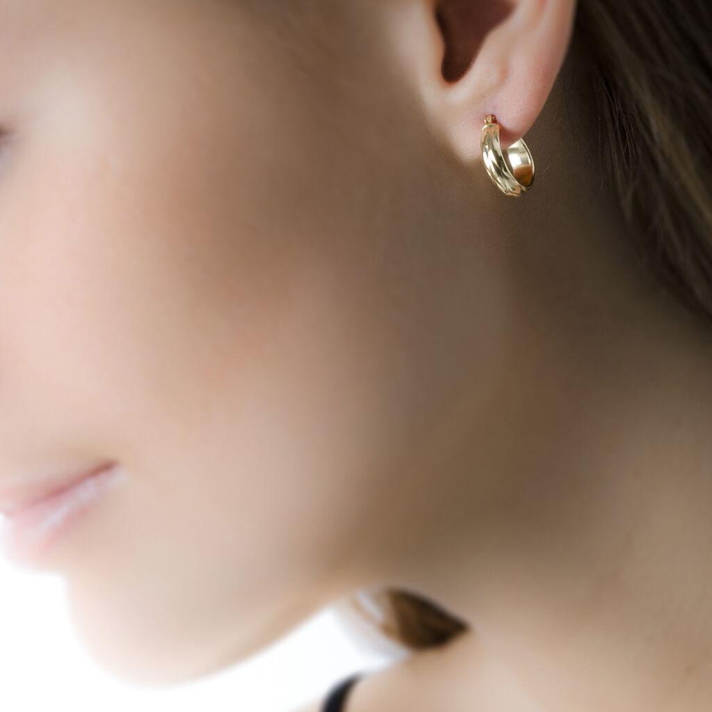 Créoles Anana Demi Jonc Or Jaune - Boucles d'oreilles créoles Femme | Histoire d'Or