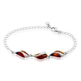 Bracelet Eve-liseae Argent Blanc Ambre - Bracelets Coeur Femme | Histoire d'Or