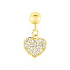 Charms Jennin Or Jaune Oxyde De Zirconium - Pendentifs Coeur Femme | Histoire d'Or