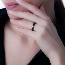 Bague Renee-paule Or Blanc Diamant Et Céramique - Bagues avec pierre Femme | Histoire d'Or