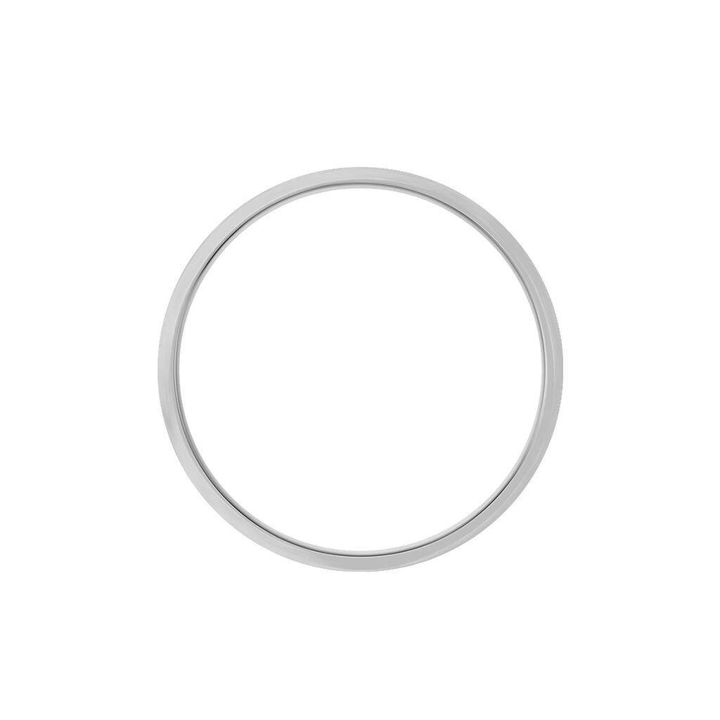 Alliance Rhodium Ruban Plat Palladium Bicolore - Alliances Homme | Histoire d'Or