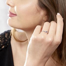 Bague Rosalyne Or Blanc Saphir Et Diamant - Bagues avec pierre Femme   Histoire d'Or