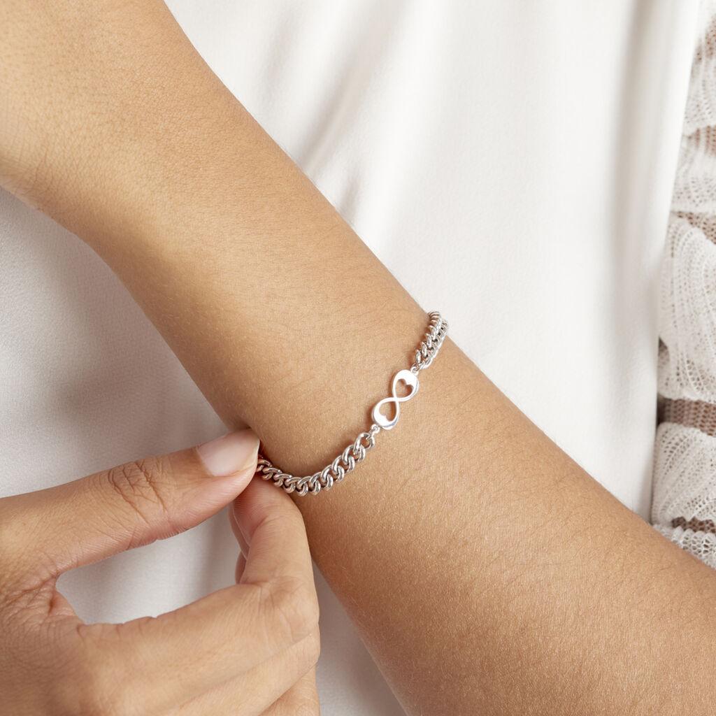 Bracelet Pao Argent Blanc - Bracelets Infini Femme   Histoire d'Or