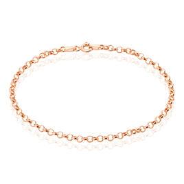 Bracelet Jodie Maille Jaseron Or Rose - Bracelets chaîne Femme | Histoire d'Or