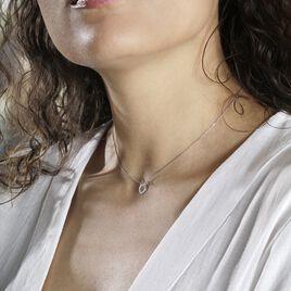 Collier Elenza Argent Blanc - Colliers Coeur Femme | Histoire d'Or