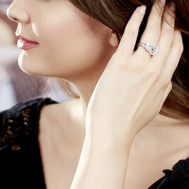 Bague Laetizia Pretty Argent Blanc Oxyde De Zirconium - Bagues avec pierre Femme | Histoire d'Or