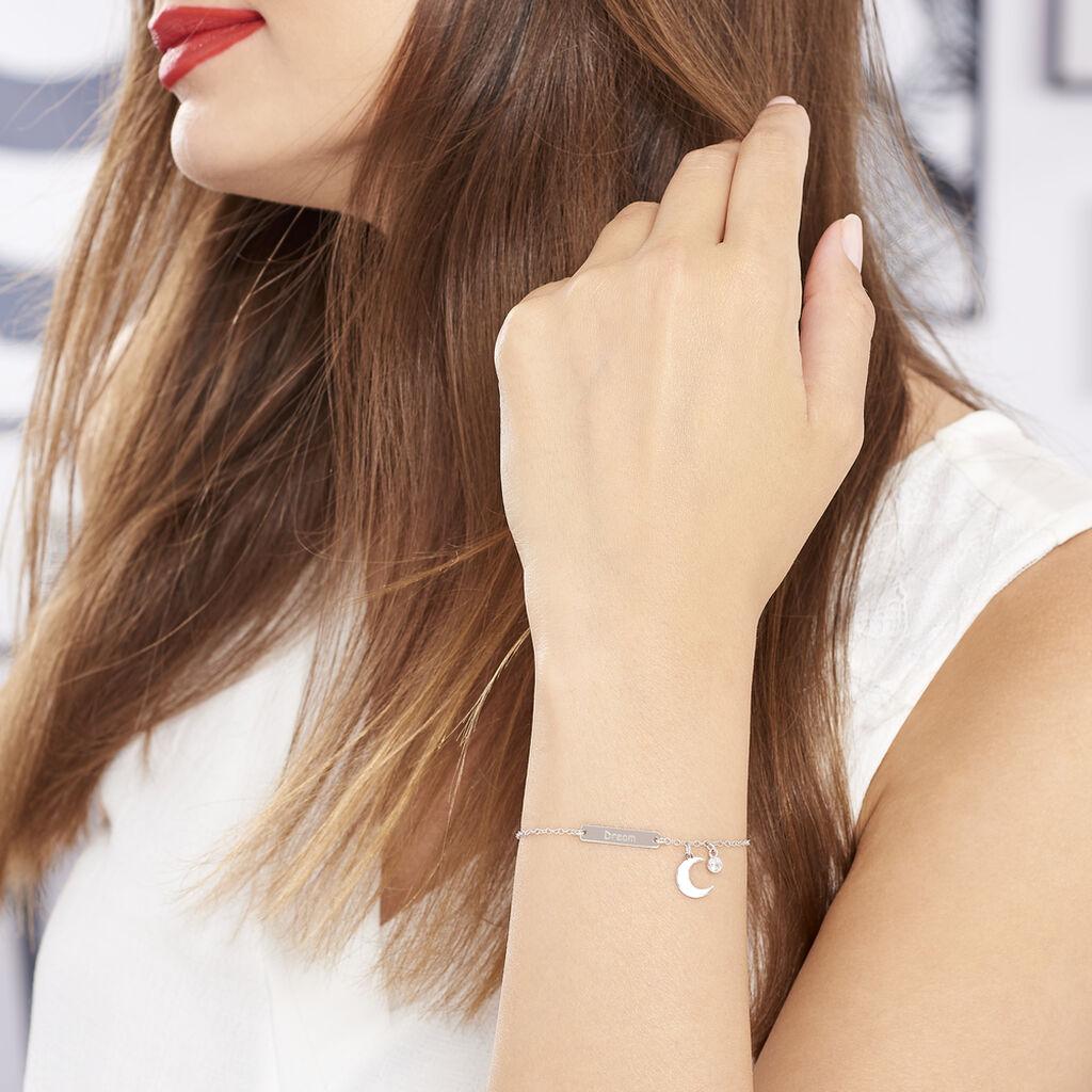 Bracelet Dreaming Argent Blanc Oxyde De Zirconium - Bracelets Lune Femme | Histoire d'Or