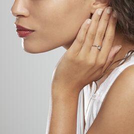Bague Or Blanc Tiphaine Topaze - Bagues solitaires Femme | Histoire d'Or