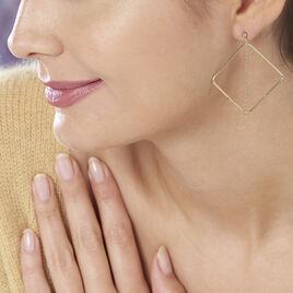 Boucles D'oreilles Pendantes Idoia Plaque Or Jaune - Boucles d'oreilles fantaisie Femme   Histoire d'Or
