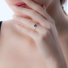Bague Loriane Or Jaune Aigue Marine Et Diamant - Bagues avec pierre Femme | Histoire d'Or