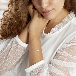 Bracelet Pelops Argent Rose Oxyde De Zirconium Et Nacre - Bracelets fantaisie Femme | Histoire d'Or