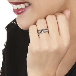 Bague Handa Or Blanc Diamant - Bagues avec pierre Femme | Histoire d'Or